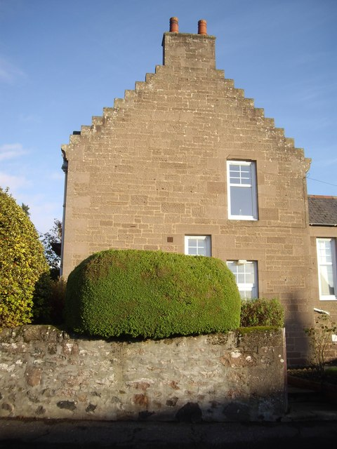 A house with stepped gable-end