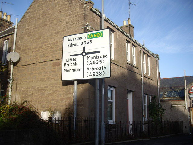 Junction of Clerk Street with B966 Edzell Road