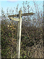 SK6533 : Bridleway fingerpost by Alan Murray-Rust