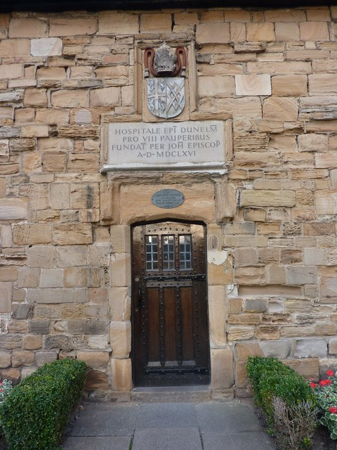 Doorway of building on Palace Green, Durham
