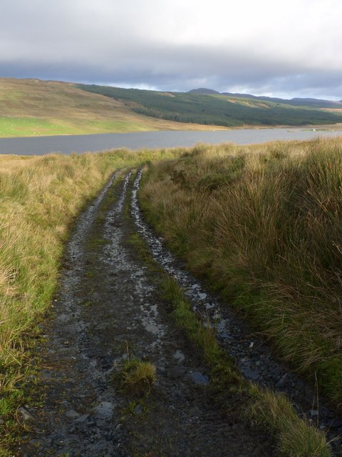 Track at Kepolls to Loch Finlaggan, Islay