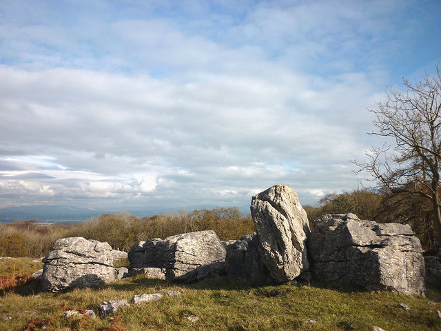 Limestone boulders just above Eggerslack Wood