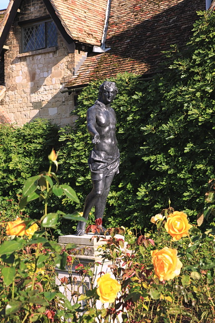 Statue in the Rose Garden, Anglesey Abbey