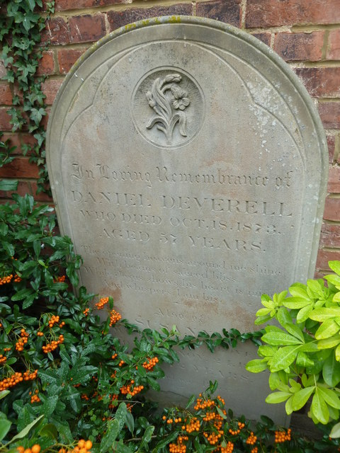 Tombstone in Bethel Chapel Garden, New Road