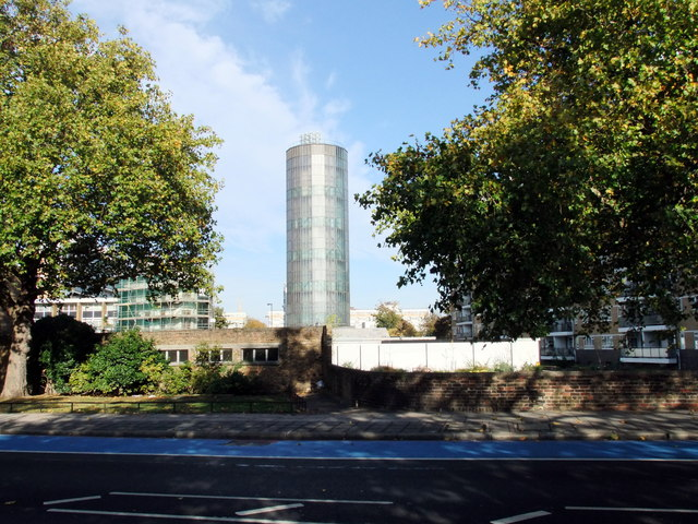 Accumulator Tower at Churchill Gardens Estate, Pimlico