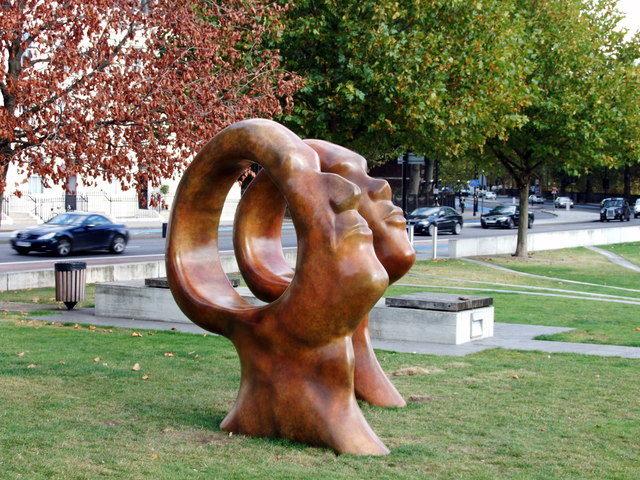 Sculptures on Millbank close to the Tate Britain