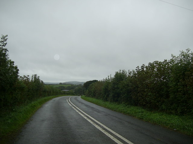 Bend in the road near Whitland