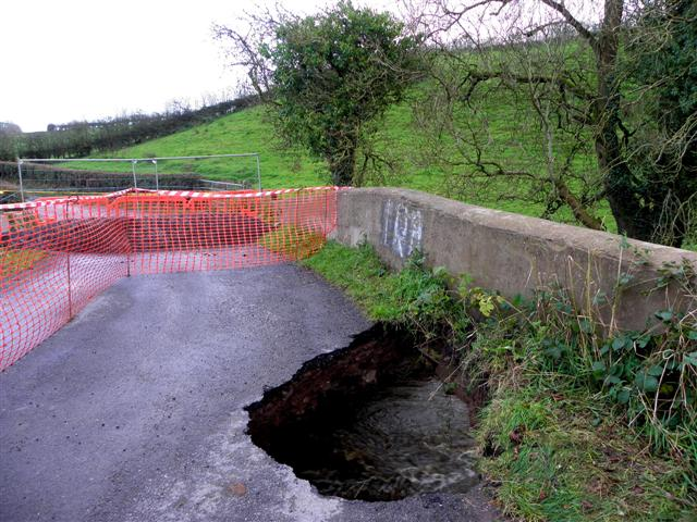 A very large hole, Ballynasaggart Road