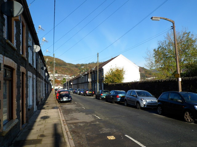 NW end of Primrose Street, Tonypandy