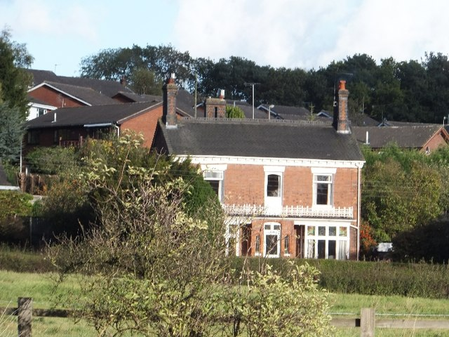 House with a motorway outlook in Madeley Heath