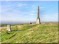 SD9608 : Bishop Park Trig Point and Monument by David Dixon