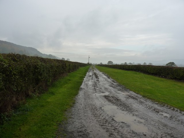 The old railway line, looking WSW