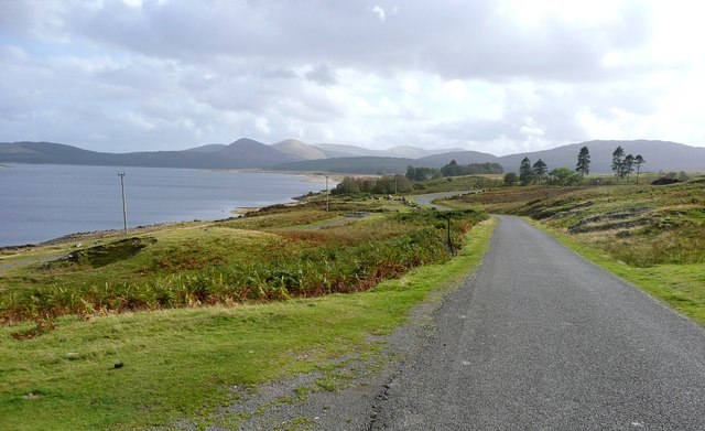 The road alongside Loch Doon