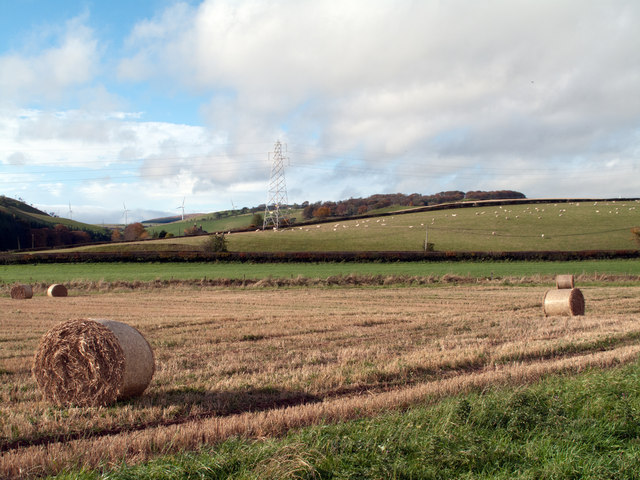 Fields on south-west side of A68