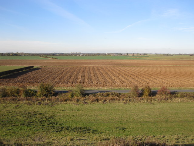 Covenham Reservoir view of farmland