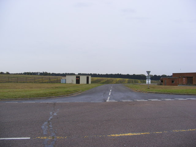 Road off the taxiway at Bentwaters