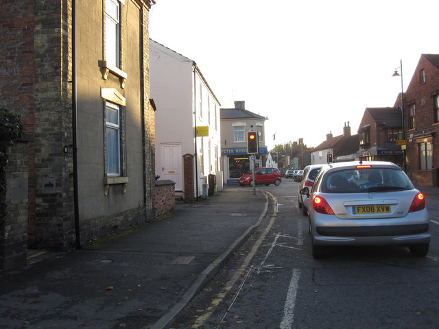 Market Rasen - B1203 meets A631 at traffic lights
