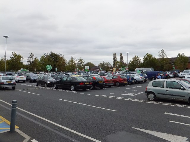 The car park for the Asda superstore