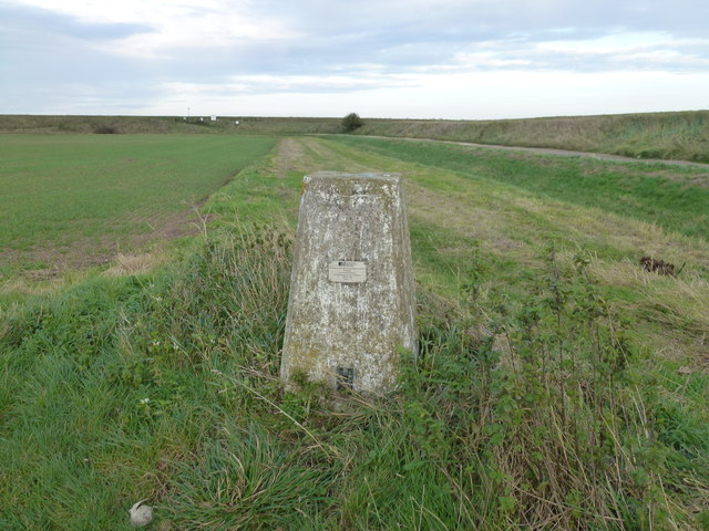 Trig point at Gedney Drove End