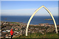 NT5584 : On North Berwick Law by Walter Baxter