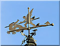 NT8656 : The weathervane at Chirnside Parish Church by Walter Baxter