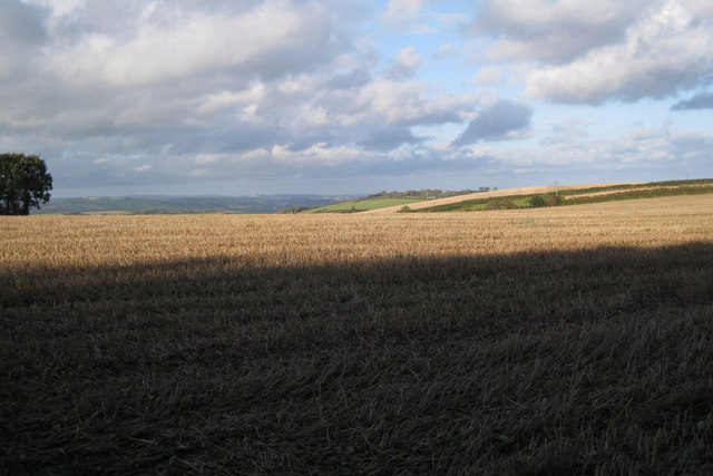 Stubble field north of Wadstray House