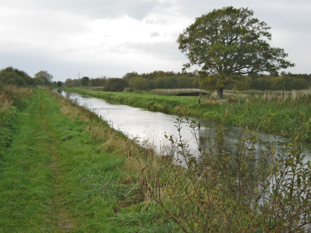 The Glastonbury Canal passing through Westhay Heath