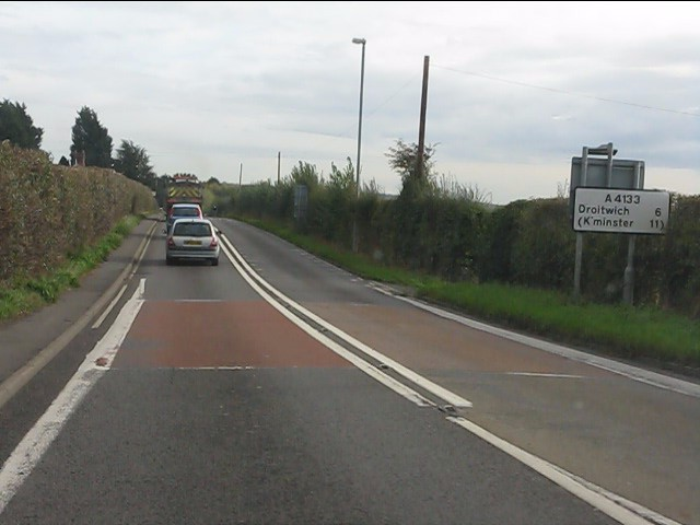 Route confirmatory sign, A4133 east of Holt Heath