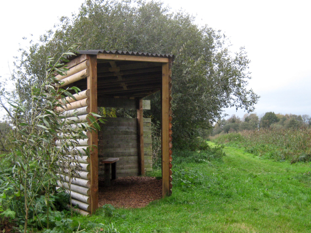 Hide on Loxton's Marsh, Ham Wall Nature reserve