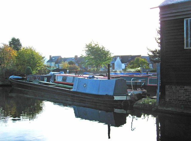 Narrowboats moored near lock 12, Stourbridge Canal, Wordsley, Stourbridge