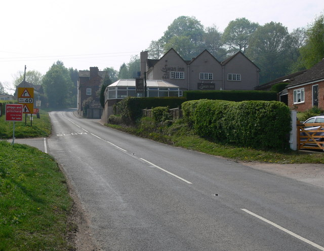 Approaching the Swan Inn