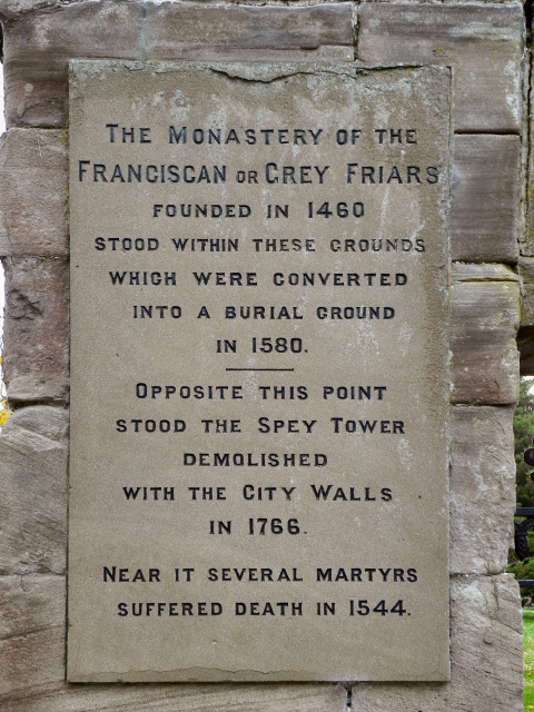 Greyfriars Burial Ground Information Tablet