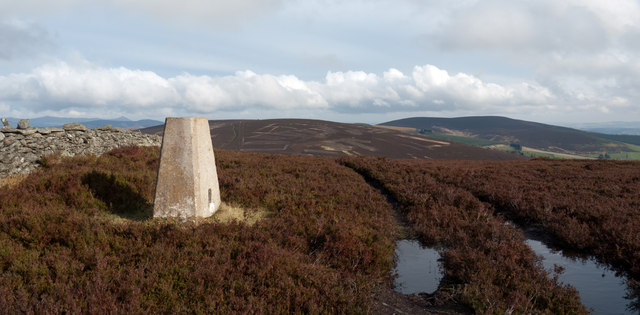 Summit of Benaquhallie with trig point