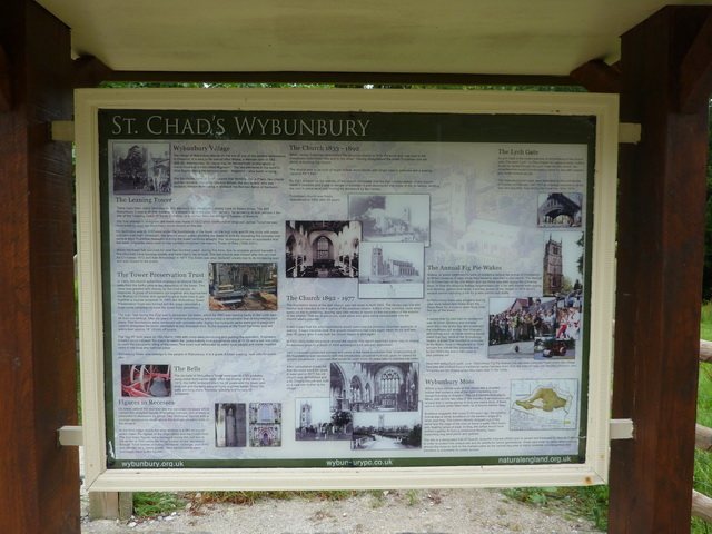 St Chad's, Information board