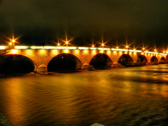 Perth Bridge (Smeaton's Bridge) Floodlit