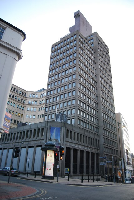 Office block in central Birmingham