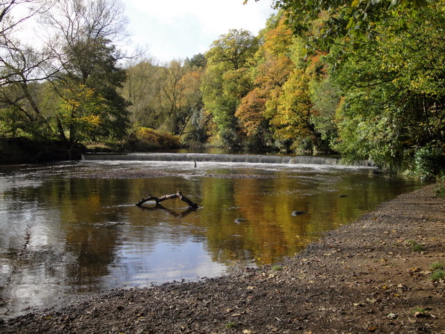Weir on the River Goyt near Woodbank Memorial Park