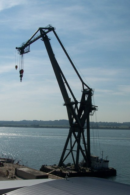 Floating Crane at Southampton Docks