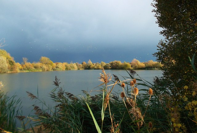 Stormy Light on a Gravel Pit