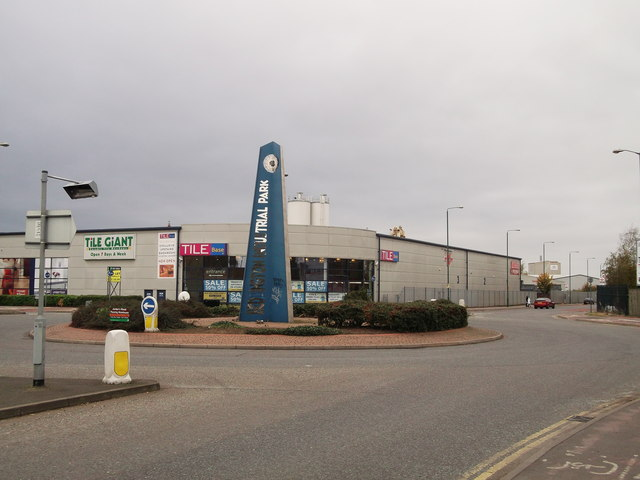 Roundabout on Ampere Way