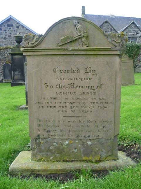 Grave of George Arnot, Burntisland Kirkyard