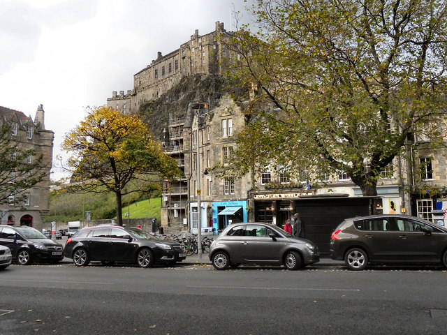 Grassmarket and Edinburgh Castle