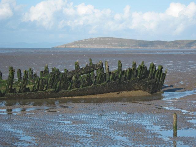 Shipwreck on Berrow Flats