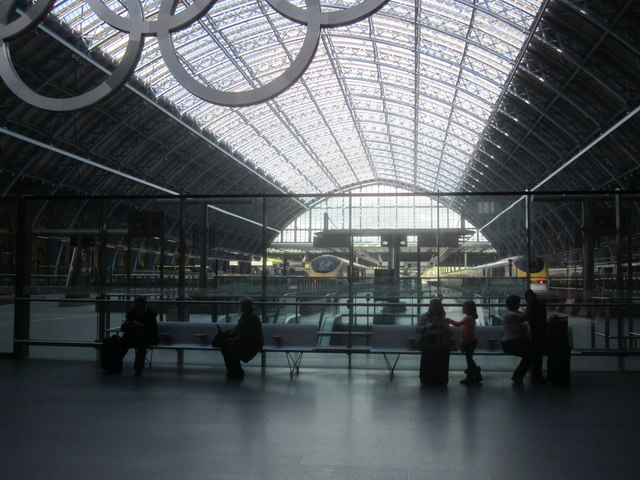 Inside St Pancras station