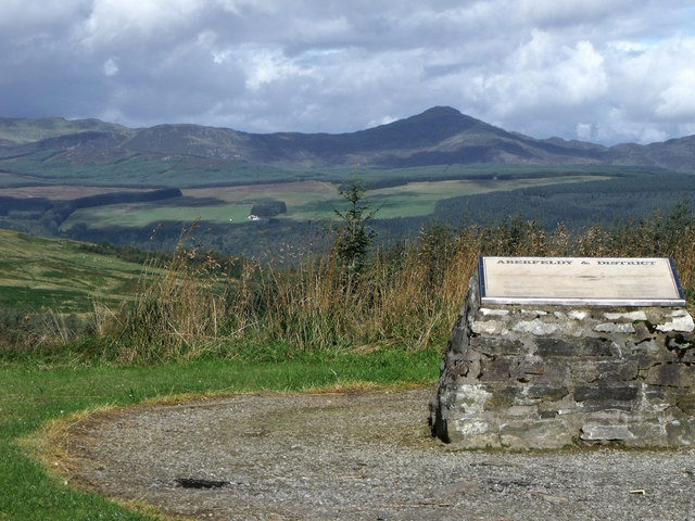Viewpoint on A826 Aberfeldy to Crieff Road