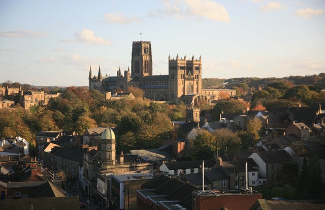 Durham Cathedral from the train window