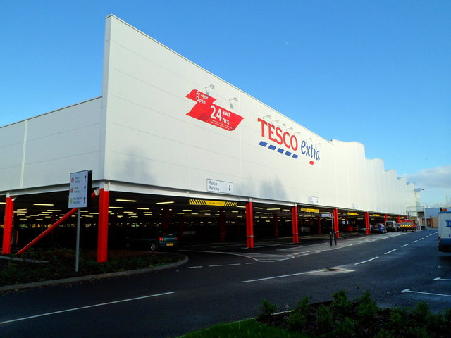 SE side of Tesco Extra, Newport Retail Park
