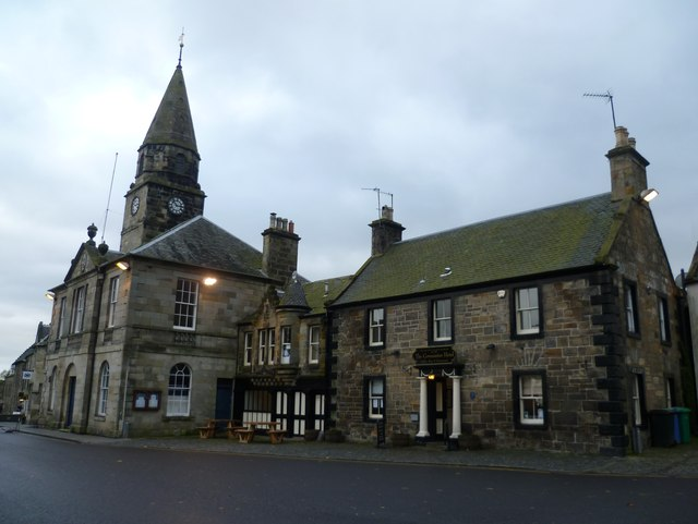 Covenanter Hotel and the Tolbooth, Falkland High Street