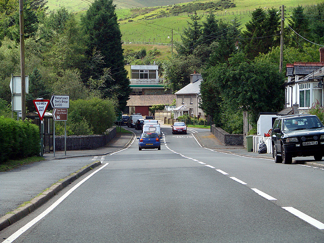 A traffic queue in Ponterwyd