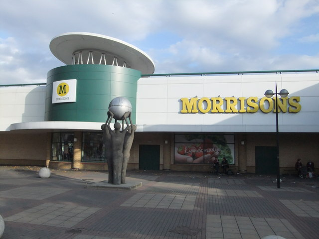 Street art and Morrisons Supermarket, The Grove E15